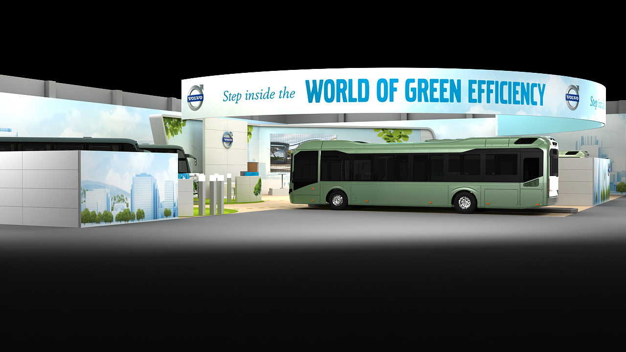 Volvo Exhibition Stand : Volvo buses viewit communication